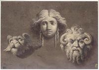studies of three antique heads by giocondo albertolli