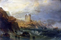 ravenscraig castle near kirkcaldy - fifeshire by john wilson ewbank