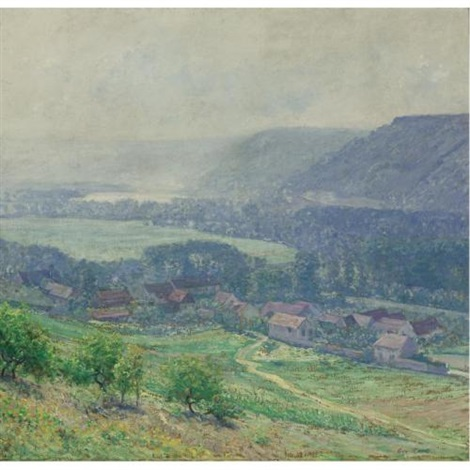 the seine valley giverny by guy rose