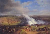 general franz fürst von und zu liechtenstein und oberst fürst wilhelm montenuovo in der schlacht bei komorn am 26. april 1849 by friedrich (fritz) l' allemand