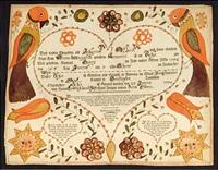 birth and baptism certificate for johannes albert, huntington township by johann jacob friedrich krebs