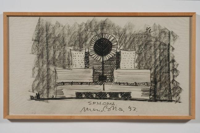 San Francisco Museum Of Modern Art Sketch By Mario Botta On