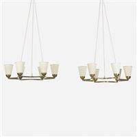 chandeliers (pair) by hans bergström