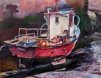 the red boat, pittenweem by scott mcmurdo