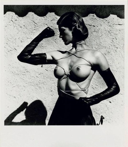 tied up torso ramatuelle by helmut newton