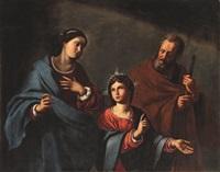 die heilige familie, sacra famiglia by antiveduto grammatica