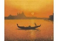 venice at sunset by tatsuya ishiodori
