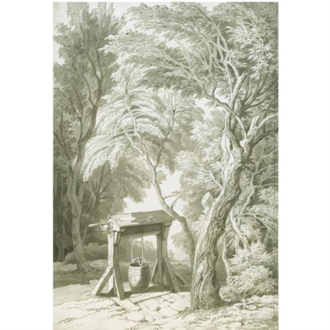 a well beneath trees by john white abbott