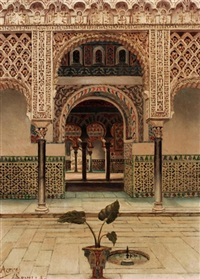 a moorish palace courtyard by tomas aceves