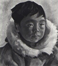 eli, portrait of an inuit child by kathleen daly pepper