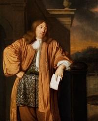 portrait eines herrn im apricotfarbenen hausmantel by ary de vois