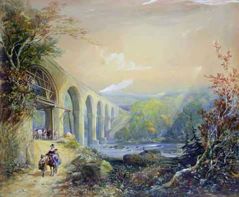 viaduct on the river taff by george childs