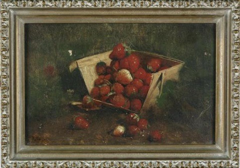 strawberries in a basket by joseph decker