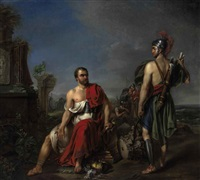 gaius marius sitting among the ruins of carthage by josef kremer