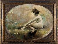 la ragazza nuda (girl in nude) by romualdo locatelli