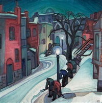 lorne crescent (also known as snow clearing at night) by marion mildred dale scott