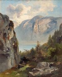 am weg zur simonyhütte an der tropfwand reith beim hallstätter see by adolf obermüllner