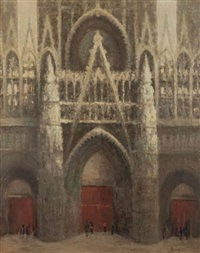 le portail de la cathédrale by narcisse henocque