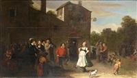 a village kermesse by bartholomeus molenaer