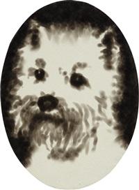 dog portrait by jiri georg dokoupil