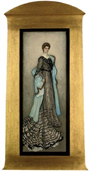 portrait of an elegant lady by nico jungmann