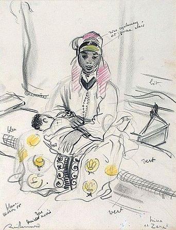 mère et son enfant nina et zara by renee bernard