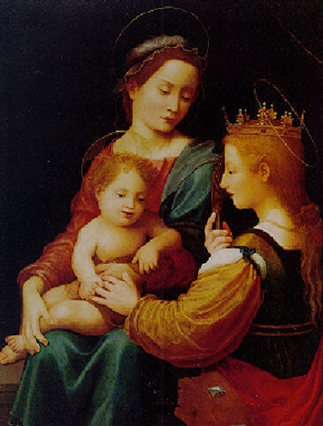 madonna and child with st catherine of alexandria by giuliano bugiardini