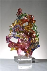 vase in the shape of a tree by vilem vesely