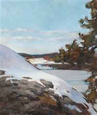 winter landscape by axel haartman