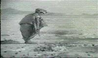 la jeune fille en rouge promenade dans la  palmeraie by georges pinel