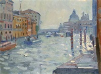 grand canal, venice (+ another; 2 works) by bo hilton