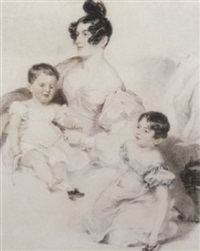 a mother and her two young children by frederick tatham