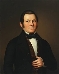 portait of erik gustaf grandholm (1807-1872) by johan erik lindh