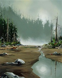 misty calm (west coast of vancouver island) by allan dunfield