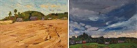 paysages (various sizes; 6 works) by nikolai efimovich timkov
