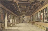 galerie de portraits avec celui de l'empereur françois 1er d'autriche et d'autres monarques by austrian school (19)