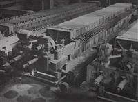 industrielandschaft. katalysator-fabrik, motor-filterpresse, ruhrchemie by albert renger-patzsch