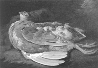 lord powis's grouse, still life of a dead grouse by moses haughton the younger