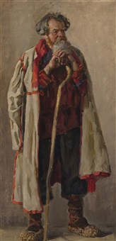 old peasant (study for pugachev) by pavel petrovich sokolov-skalua