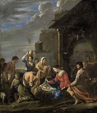 the adoration of the shepherds by mathieu (le chevalier) le nain