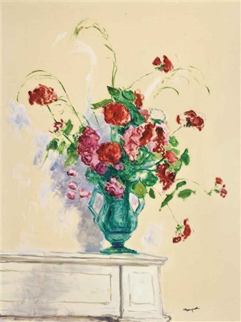 bouquet dans un vase de verre alger by albert marquet