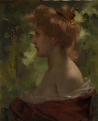 woman in a red dress by maalaus