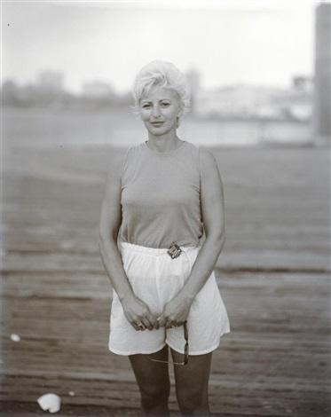 blond woman at ashbbury park by judith joy ross