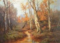 autumn landscape by georgiy zakharovich bashinzhagyan