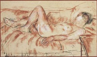 reclining nude by ruskin spear