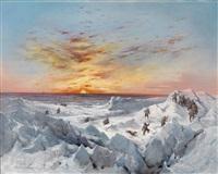 sonnenaufgang am 16. februar 1873 im packeis zwischen nowaja semlja und franz josef land by adolf obermüllner