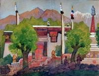 paysage tibétain by léa (madame) lafugie