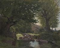 ruisseau ombragé by pierre leprat