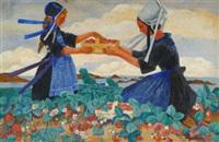 la cueillette des fraises à plougastel by yvonne jean-haffen