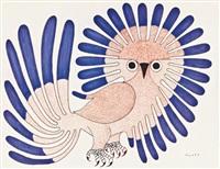 untitled (owl) by kenojuak ashevak